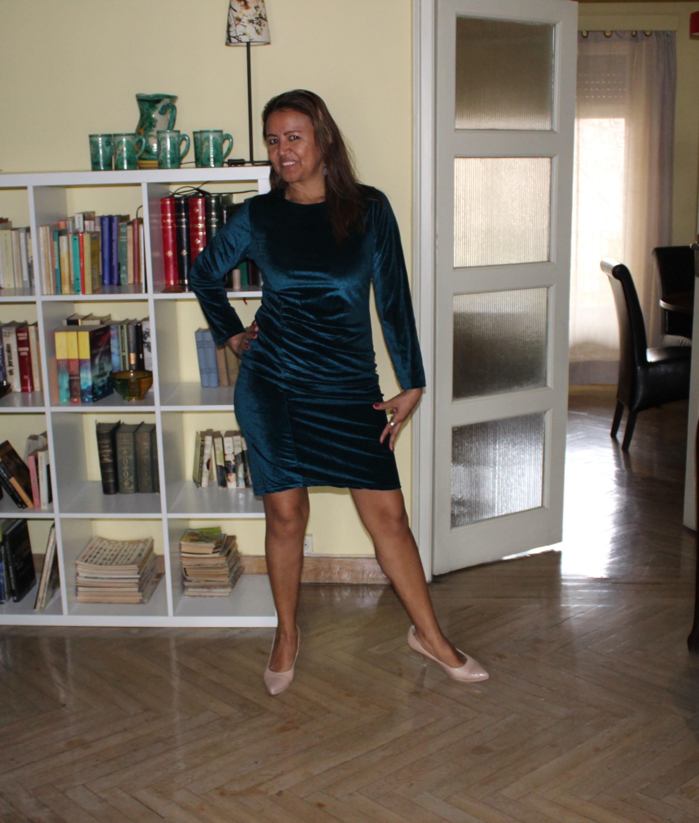 Dress cóctel blue