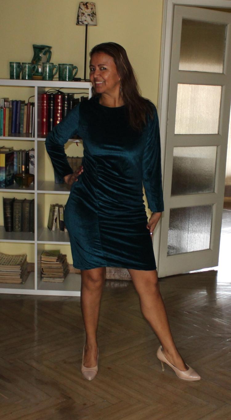 Vestido terciopelo azul