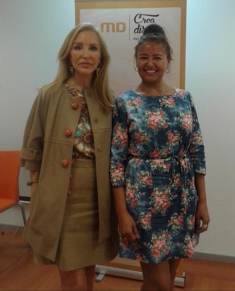 Yaneth con Carmen Lomana