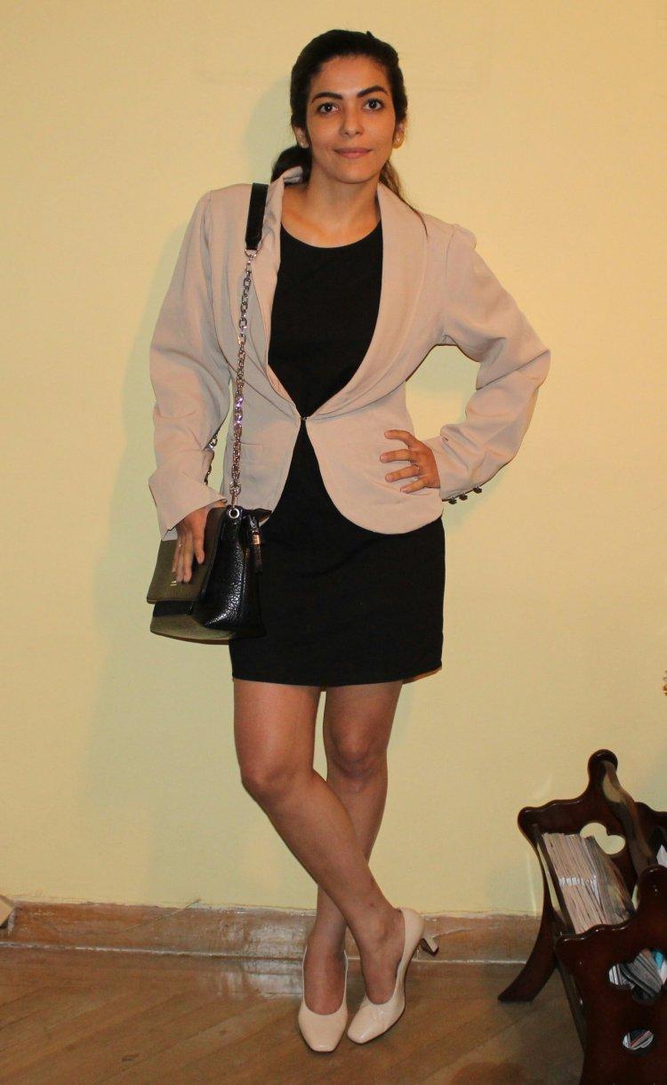 Vestido LBD con bleizer