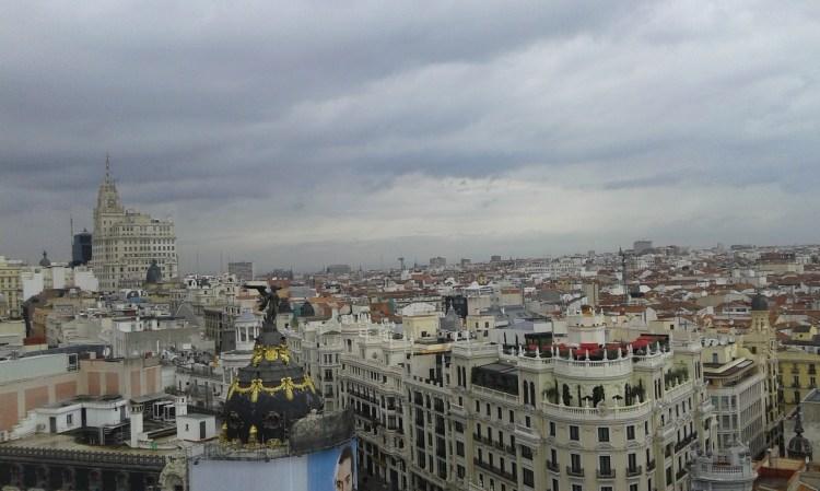 Madrid vista desde la azotea del círculo de Bellas Artes.