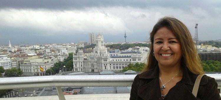 Vista de Madrid desde la Azotea del círculo de Bellas Artes.