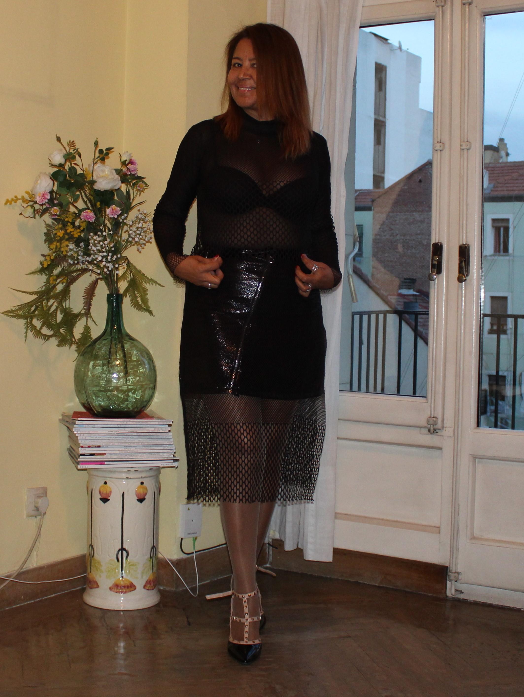 falda mini de cuero