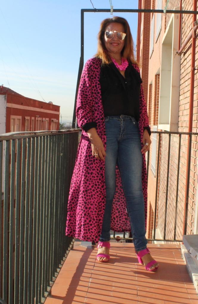 Vestido Kimono Fucsia