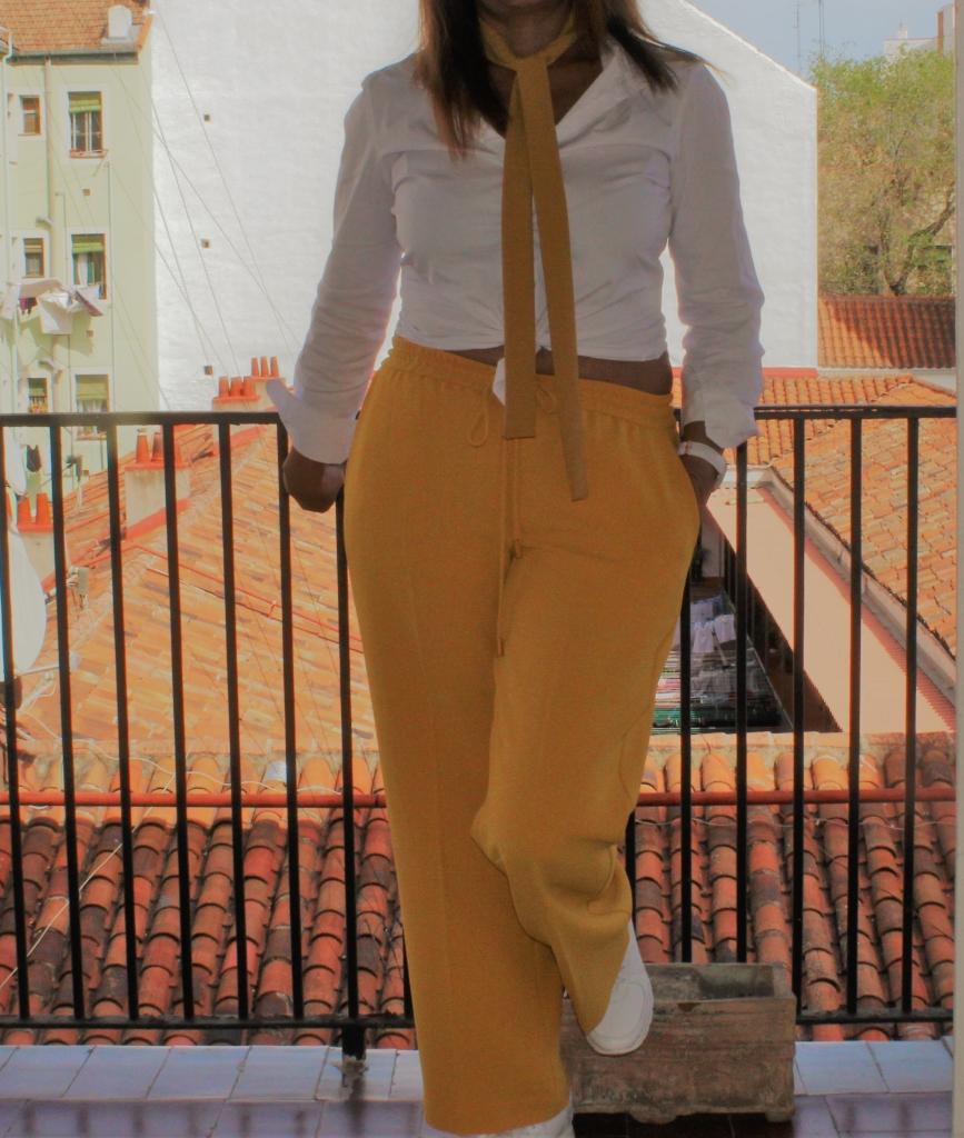 Pantalón Culotte mostaza