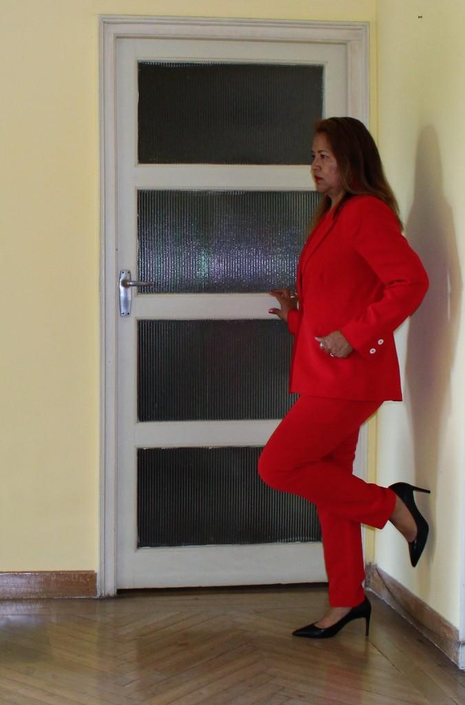 Conjunto sastre mujer rojo