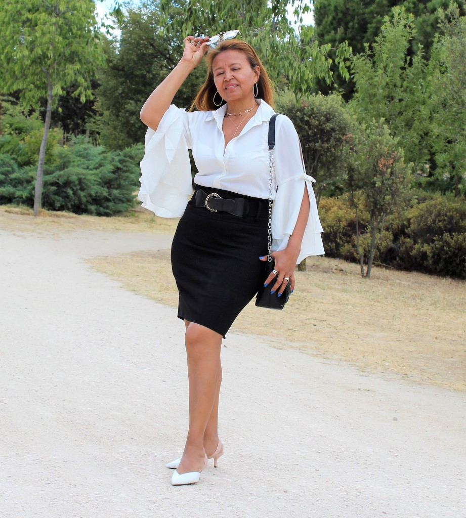 Camisa blanca manga elegante